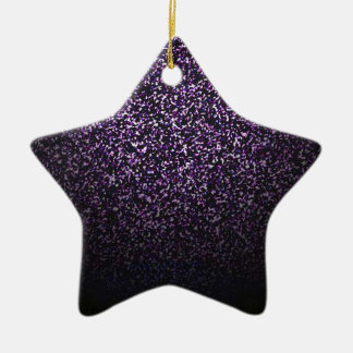 Mysterious sprinkle of violet ceramic star decoration