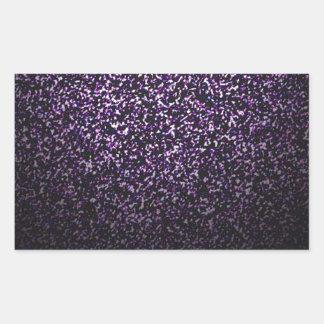 Mysterious sprinkle of violet rectangular sticker