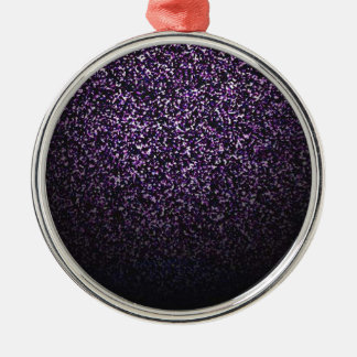 Mysterious sprinkle of violet Silver-Colored round decoration