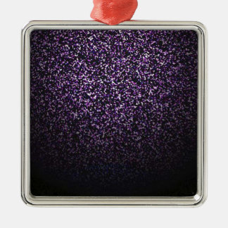 Mysterious sprinkle of violet Silver-Colored square decoration
