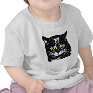 Mysterious Transparent Black Cat Baby Tee