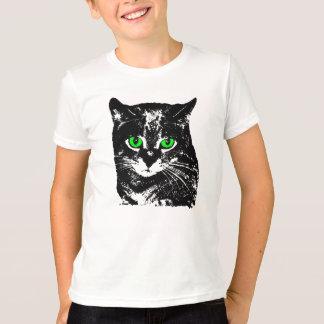 Mysterious Transparent Black Cat Kids Tee