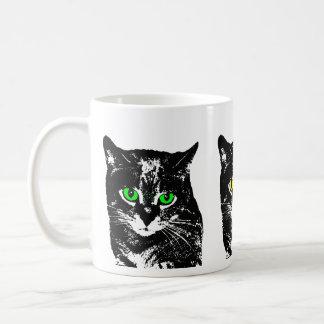 Mysterious Transparent Black Cat Mug