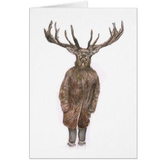 Mysterious Watercolour Deer Greetings card