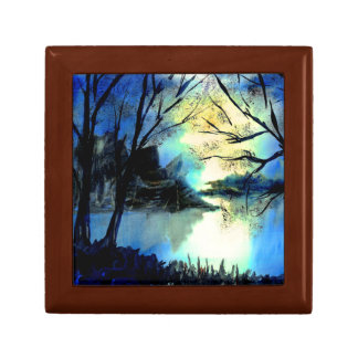 Mysterious Watercolour Sunset Lake Gift Box