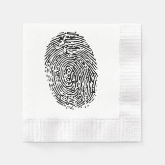 Mystery Black Fingerprint Disposable Serviette