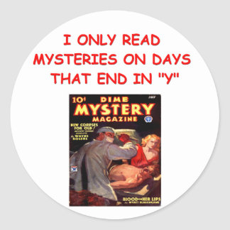 mystery book stickers