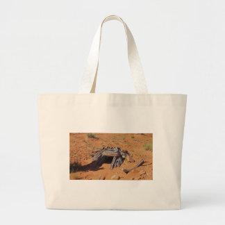 Mystery desert cave in utah canvas bag