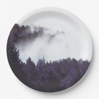 Mystery Fog paper plate 9""