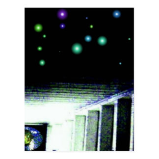 Mystery Galaxy Porch with Distant Sun Post Cards