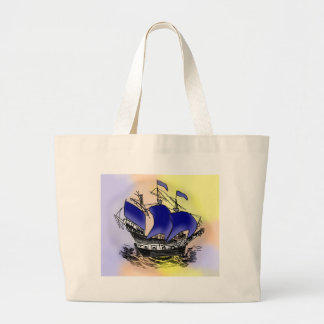 Mystery Tall Ship Tote Bags