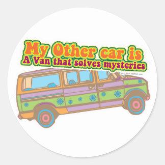 Mystery Van Round Sticker