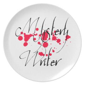 Mystery Writer Plate