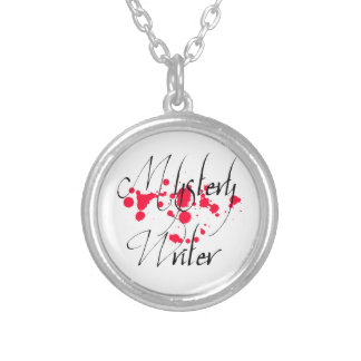 Mystery Writer Silver Plated Necklace