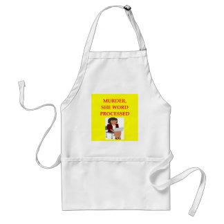 mystery writer standard apron