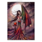 Mystic Autumn Vampire Gothic Fairy Halloween Art Card