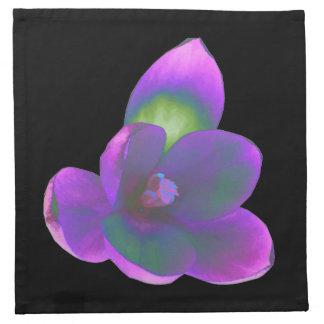 Mystic Beauty Crocus Flower Napkin