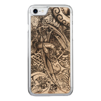 Mystic Blades Intricate Detailed Hand Drawing Carved iPhone 7 Case
