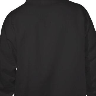 Mystic blue celtic knot on leather sweatshirt