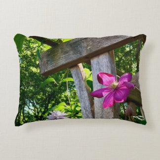 "Mystic Clematis Flower Accent Pillow 16"" x 12"""