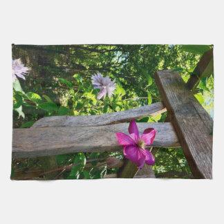 "Mystic Clematis Flower Kitchen Towel 16"" x 24"""