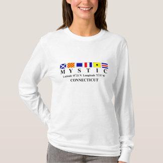 Mystic, CT - Longtitude & Latitude T-Shirt