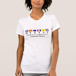 Mystic, CT - Longtitude & Latitude Tshirts