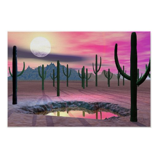 Mystic Desert Night Poster