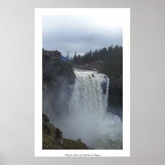 """Mystic Falls"" Snoqualmie Professional Poster"