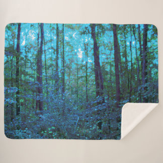 Mystic Forest Sherpa Blanket