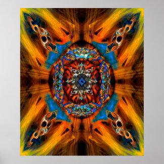 Mystic Fractal Poster