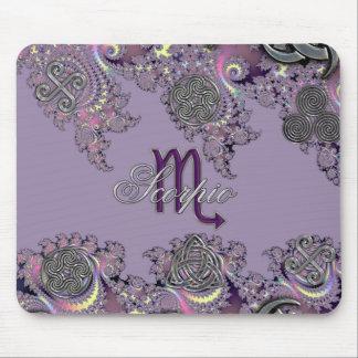 Mystic Fractal Zodiac Sign Scorpio Mouse Pad