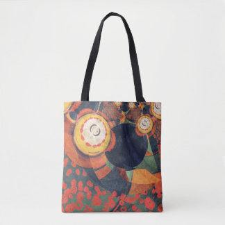 Mystic Future Abstract Design Tote Bag