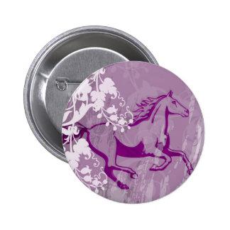 Mystic Garden Horse (Lt. Purple) 6 Cm Round Badge