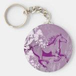 Mystic Garden Horse (Lt. Purple) Keychain