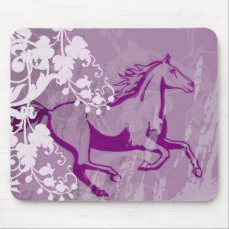Mystic Garden Horse Lt Purple Mouse Pads