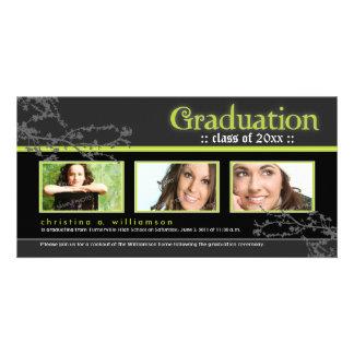 Mystic Goth Graduation Announcement (lime) Card