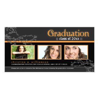 Mystic Goth Graduation Announcement (orange) Photo Card