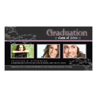 Mystic Goth Graduation Announcement (purple) Card