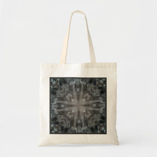 Mystic Gray Feather Kaleidoscope Party Favor Gift Canvas Bag