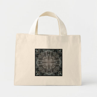 Mystic Gray Feather Kaleidoscope Small Canvas Bags