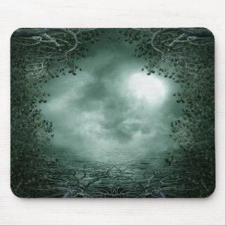 Mystic Green Moonlight Mouse Pad
