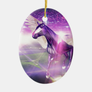 Mystic Horse Ceramic Oval Decoration