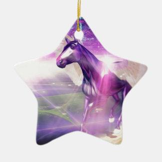 Mystic Horse Ceramic Star Decoration