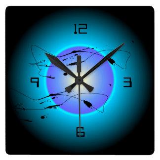 Mystic Illuminated Aqua Purple/Lemon  >Wall Clock