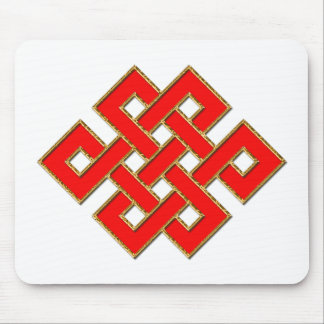 Mystic Knot - Red & Gold 1 Mouse Pad