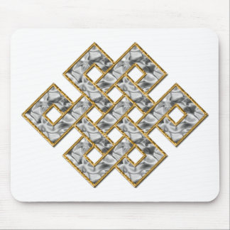 Mystic Knot - Silver & Gold 1 Mousepads