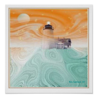 Mystic Lighthouse Poster