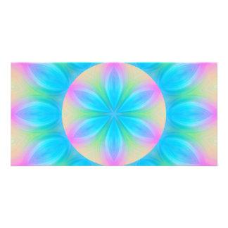 Mystic mandala symbol photo card