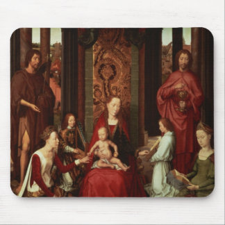 Mystic Marriage of St. Catherine and Other Saints Mouse Mat